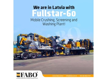 FABO FULLSTAR-60 Crushing, Washing & Screening  Plant - мобильная дробилка